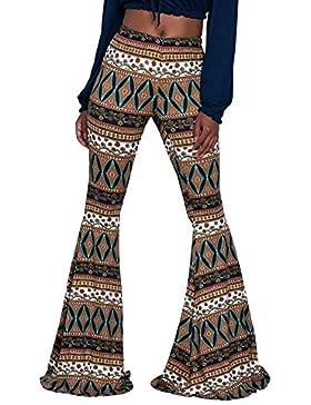 Pantalones Mujer Largos Golpear Los Pantalones Elegantes Cintura Alta Estampadas Etnica Estilo Vintage Joven Bastante...
