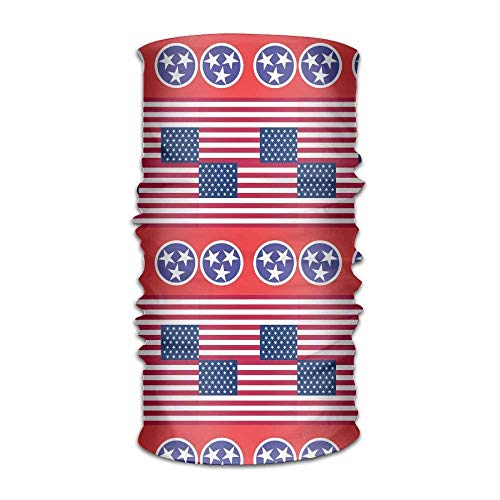 KENTONG Hill Unisex Usa Tennessee Flag Multifunctional Bandanas Sweatband Elastic Turban Headwear Headscarf Beanie Kerchief Usa Knot Turban