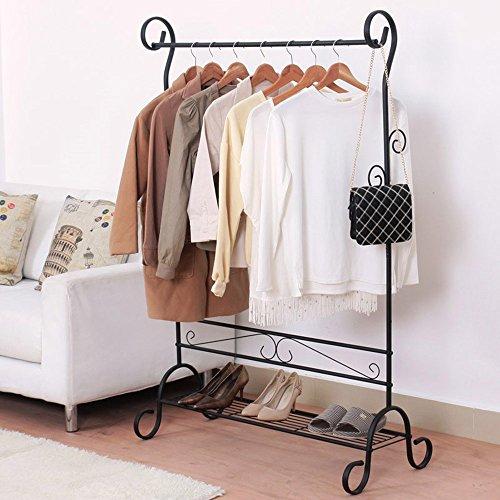 NEUN WELTEN Kleiderständer Vintage Design Kleiderstange aus Metall Garderobenständer 92 x 45 x 145...