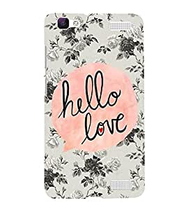 FUSON Hello Love 3D Hard Polycarbonate Designer Back Case Cover for Vivo V1 Max