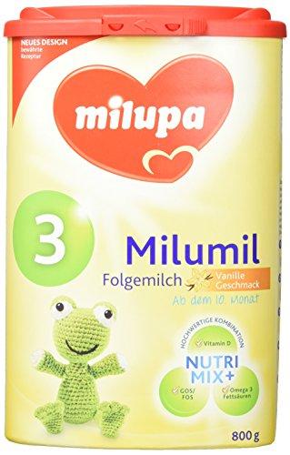 Milupa Milumil 3 Vanille-Geschmack, Folgemilch ab dem 10. Monat, 4er Pack (4 x 800 g)