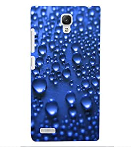 ColourCraft Water Drops Pattern Design Back Case Cover for XIAOMI REDMI NOTE
