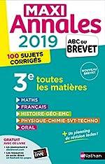 Maxi Annales ABC du Brevet 2019 de Nicolas Coppens