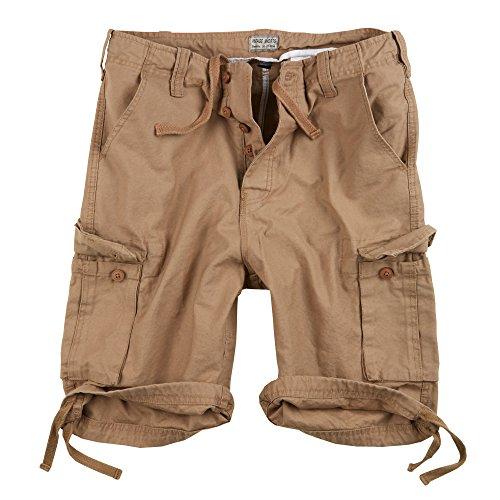 Vintage Cargo Pantaloncini Lightning Edition in Bundle con UD Accendino antivento Beige lavato