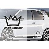 König - Krone   Funny   Wunschtext   Auto Aufkleber   Lustig