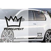 König - Krone | Funny | Wunschtext | Auto Aufkleber | Lustig