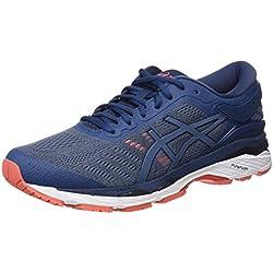 ASICS Gel-Kayano 24, Chaussures de Running Homme, Bleu Smoke Dark Blue 5656, 41.5 EU