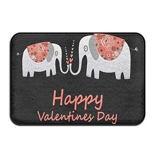 Alfombra de Piso Amor Hermoso Entrada de Elefantes Felpudo Antideslizante 15.7 X...