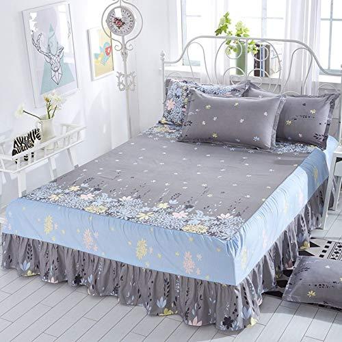 huyiming Verwendet für Frühling und Sommer Baumwolle Bett vierteilige europäische Bett Rock Bettdecke Dünnschliff 2,0x2,2 m