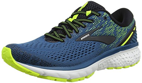Brooks Ghost 11, Scarpe da Running Uomo, Multicolore (Blue/Black/Nightlife 459), 41 EU