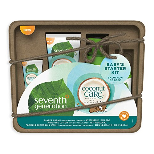 Seventh Generation Baby Care Reise Größe Geschenk Set–Coconut (Seventh Generation Baby)