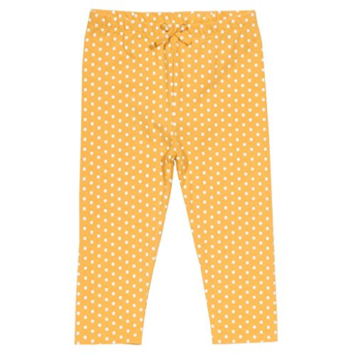 Kite Girls Polka Dot Leggings In Ochre Yellow