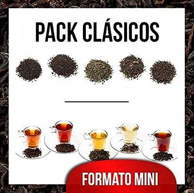Aromas de Té - Mini pack contient du thé Cásicos Moruno + Pu erh thé rouge Yunnan Thé noir + Petit déjeuner Formosa Oolong Thé bio + + Semi fermentée Thé noir Earl Grey