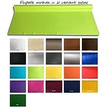 Tessuto Ecopelle morbida finta pelle h 140 cm per arredo divani sedie AL METRO (Al metro, Bianco)