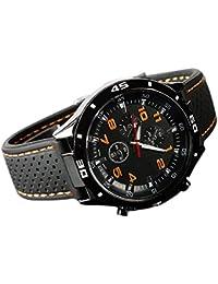 Sanwood Homme Racer pilote armée style de silicone montre de bracelet
