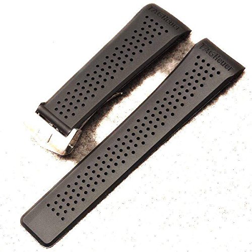 22-20-mm-watch-straps-black-openwork-rubber-silver-clasp-to-fit-tag-heuer