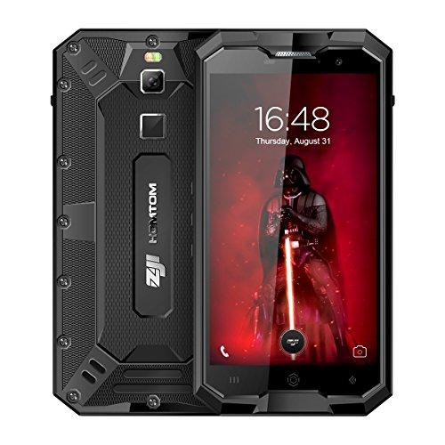 "HOMTOM ZOJI Z8 Smartphone- IP68 impermeabile, 5.0"" HD Display Android 7.0 4G Telefono Cellulari, MTK6750 Octa-core 1.0GHz, 4GB RAM 64GB ROM, 13MP+16MP Camera, Fingerprint Recognition,4250mAh Batteria,Dual SIM, WiFi/GPS/OTG/OTA Cellulare - Nero"