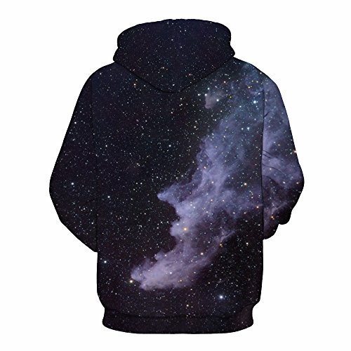 AMOMA Damen digitaldruck Kapuzenpullover Tops Unisex Hoodie Pullover Hooded Sweatshirt Cloud