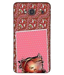 Fuson 3D Printed Love Designer back case cover for Xiaomi Redmi 2S - D4129