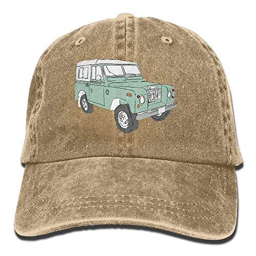 Jxrodekz Vintage Land Rover Series Adjustable Traveler Cotton Washed Denim Hats Asphalt EE448 - Alle Hut Schwarzen 49ers