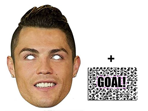 ssballer Single Karte Partei Gesichtsmasken (Maske) Enthält 6X4 (15X10Cm) starfoto (Promi-latex-maske)