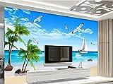 Art_wall_mural 3D Tapete Wallpaper Benutzerdefinierte Moderne Tapete 3D-Blick Auf Den Strand Tapete Vlies Fototapete Landscape Wallpaper Für Wände 3D Wandmalerei Fresko Mural 300cmX220cm