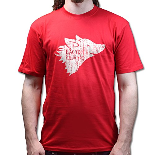 Winter Bacon is Coming Game of Pig Thrones T-shirt Rot