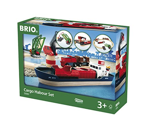Brio GmbH BRIO® Bahn 33061 - BRIO Container Hafen Set, 16 Teile