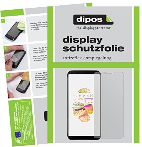 dipos I 6X Schutzfolie matt passend für OnePlus 5T Folie Bildschirmschutzfolie