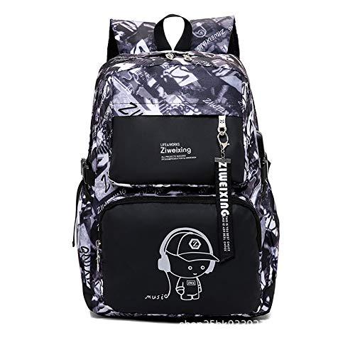 LYARA Männliche und weibliche Studenten beuteln Computertasche/wasserdichte beiläufige Art und Weisereisetasche-Kastensack der großen Kapazität-White-blue (Rosa Cover Wheel)