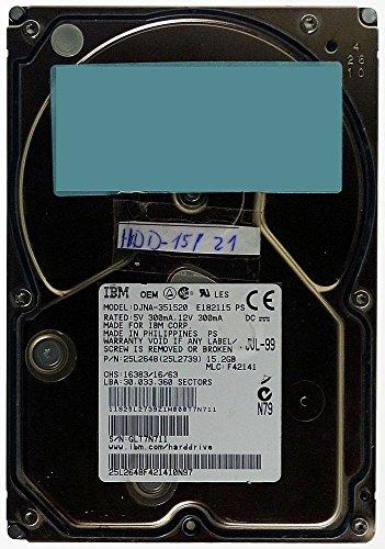 15GB AT Festplatte IBM DJNA-351520 IDE ID4780 - Ibm-ide-festplatte