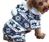 QIYUN.Z Casual Vier Beine Schwarz Weißem Samt Schnee Rehe Weihnachten Hoodie Hund Pullover Winter Warme Jacke Haustier Hunde Shirts Hoodies S M L XL XXL