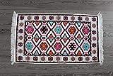 65 x 120 cm mit Fransen, Kelim, Teppich Orient, Läufer, orientalische Zimmer-Dekoration,,kinderzimmer,junge,mädchen,wohnzimmer,schlafzimmer modern deko,orient wand teppiche,tapete Wohnung (weiß)