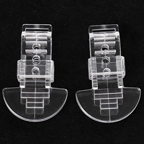 perfeclan 2 Stücke Durchsichtigen Kunststoff Clip On Clamps Zähne Clip Nip Für Tuch Spielzeug