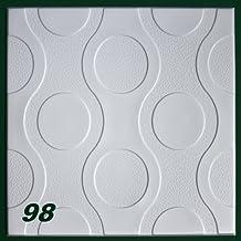 10 m2 Pannelli per soffitto Pannelli di polistirolo Stucco Copertura Decorazione pannelli 50x50cm, Nr.98
