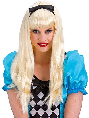 Wicked Ladies Storybook Alice Blonde Wig Fancy Dress Accessory