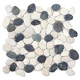 Mendler Steinfliesen Vigo T689, Naturstein-Fliese Mosaik Kieselsteine, 11 Stück je 30x30cm = 1qm