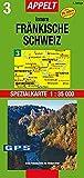 Innere Fränkische Schweiz: Spezialkarte 1:35000, GPS-tauglich, Rad- und Wanderwege, Freizeiteinrichtungen, Sehenswürdigkeiten, Archäologie -