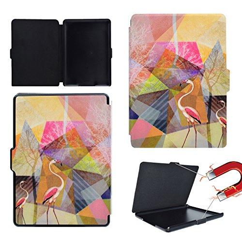 Amazon 2016 New kindle Hülle, BONROY® Hülle Case Schutzhülle Tablet Amazon 2016 New kindle Mode gemalt Muster Auto aufwachen / Schlaf Funktion Smart Case mit Standfunktion Karteneinschub und Magnetverschluß für Amazon 2016 New kindle - Flamingos