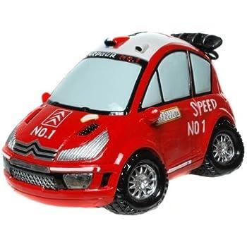 Spardose lustiges Auto Sparbüchse Sparkasse Sparschwein rot