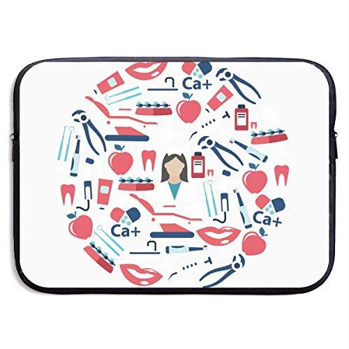 Benutzerdefinierte Laptop-Hülle 13/15 Zoll MacBook Reißverschluss Aktentasche Medizin Gesundheitswesen Drucken tragbare Umhängetasche, 13 Zoll