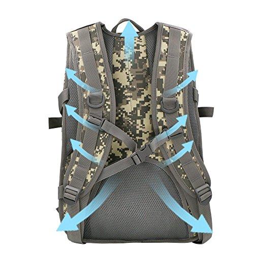 iTemer Rucksack Taktischer Rucksack Backpack Bergsteigen-Tasche Tarnung Beide Schultern Lässige Taschen Grau