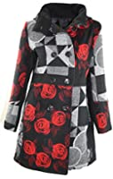#796 Damen Designer Patchwork Winter Mantel Trenchcoat Wintermantel 34 36 38 40 42 44