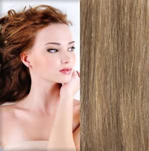 GoGoDiva Clip in Hair Extensions 100% Human Remy Hair #18 Strawberry Blonde colour 26 inches Length 135 grams hair weight