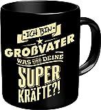 Original RAHMENLOS® Kaffeebecher für den Opa: Ich bin Großvater, was sind Deine Superkräfte? Im Geschenkkarton 2622