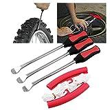 Alician 3 Reifenheber Werkzeug Löffel + 2 Felgenschützer Werkzeug Kit für Motorrad Fahrrad...