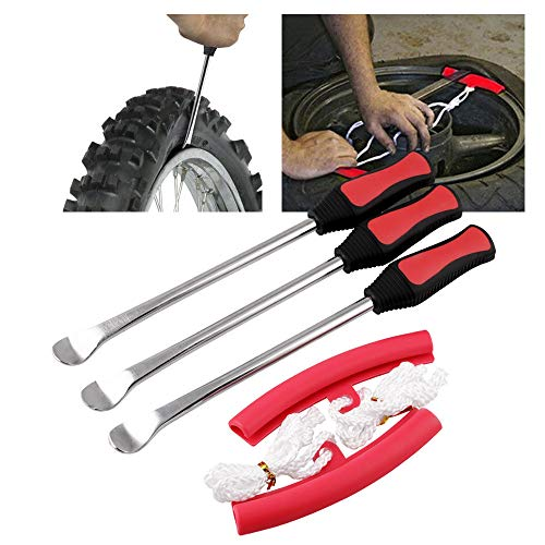 ACHICOO 3 herramientas para desmontar neumáticos cuchara + 2 herramientas de protección...