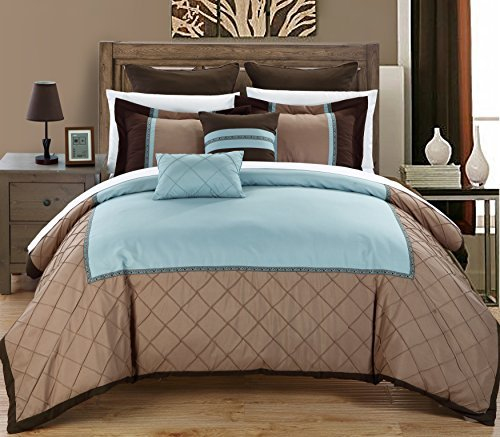 Chic casa greensville 7 comforter set, King size,