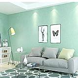 HONGTONG Wandtapete Moderne Einfache Einfarbige Dicke Nicht Selbstklebende Vliestapete Mintgrün 10M Tapeten Tapetenrolle Fototapete Wand Papier Rollen
