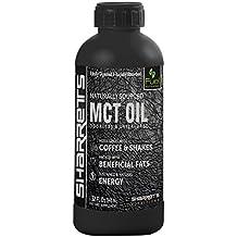 Sharrets Medium chain triglycerides mct oil, Non GMO, Gluten Free [mct oil bulletproof, mct coconut oil, sports supplement, Caprylic Capric acid, mct oil keto] 946ml./32 Fl.Oz, Unflavored
